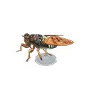 Animal Crossing New Horizons Brown Cicada Model Image