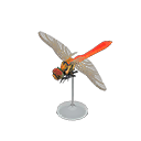 Animal Crossing New Horizons Red Dragonfly Model Image