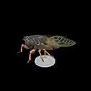 Animal Crossing New Horizons Giant Cicada Model Image