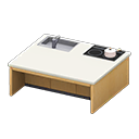 Animal Crossing New Horizons Light brown Kitchen Island