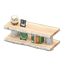 Image of Log decorative shelves
