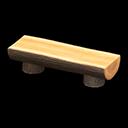 Animal Crossing New Horizons Log Bench