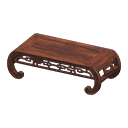 Animal Crossing New Horizons Brown Imperial Low Table
