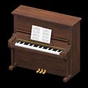 Animal Crossing New Horizons Walnut Upright Piano