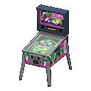 Animal Crossing New Horizons Black Pinball Machine
