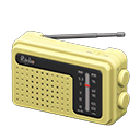 Animal Crossing New Horizons Yellow Portable Radio
