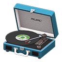 Animal Crossing New Horizons Blue Portable Record Player