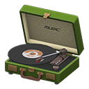 Animal Crossing New Horizons Green Portable Record Player