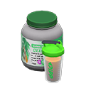 Animal Crossing New Horizons Cocoa flavored Protein Shaker Bottle