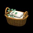 Animal Crossing New Horizons Rattan Towel Basket Image
