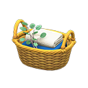 Image of Rattan towel basket