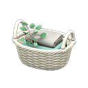 Image of Rattan towel basket