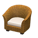 Animal Crossing New Horizons Rattan Armchair