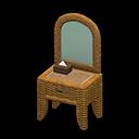 Animal Crossing New Horizons Rattan Vanity