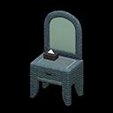 Animal Crossing New Horizons Gray Rattan Vanity