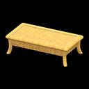 Animal Crossing New Horizons Light brown Rattan Low Table