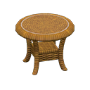 Animal Crossing New Horizons Rattan End Table