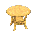 Animal Crossing New Horizons Light brown Rattan End Table