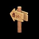 Animal Crossing New Horizons Angled Signpost Image