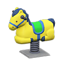Animal Crossing New Horizons Yellow Springy Ride-on