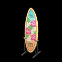 Animal Crossing New Horizons Hibiscus flowers Surfboard