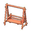 Animal Crossing New Horizons Red wood Swinging Bench