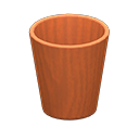 Animal Crossing New Horizons Cherry wood Wooden Waste Bin