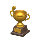 Animal Crossing New Horizons Gold Fish Trophy Image