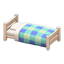 Animal Crossing New Horizons White wood Wooden Simple Bed