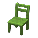 Animal Crossing New Horizons Green Wooden Chair