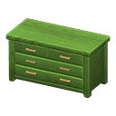 Animal Crossing New Horizons Green Wooden Chest