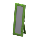 Animal Crossing New Horizons Green Wooden Full-length Mirror