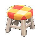 Animal Crossing New Horizons White wood Wooden Stool