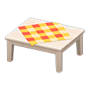 Animal Crossing New Horizons White wood Wooden Table