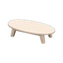 Animal Crossing New Horizons White wood Wooden Low Table