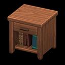 Animal Crossing New Horizons Dark wood Wooden End Table