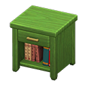Animal Crossing New Horizons Green Wooden End Table