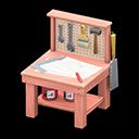 Animal Crossing New Horizons Pink Mini DIY Workbench