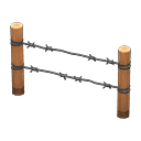 Image of Barbed-wire fence