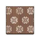 Animal Crossing New Horizons Brown Floral Flooring Image
