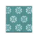 Animal Crossing New Horizons Audie's House Green Floral Flooring Flooring