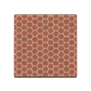 Animal Crossing New Horizons Brown Honeycomb Tile Image
