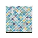 Image of Blue desert-tile flooring