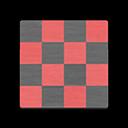 Animal Crossing New Horizons Angus's House Red-and-black Vinyl Flooring Flooring