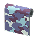 Animal Crossing New Horizons Blue Camo Wall Image