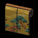 Animal Crossing New Horizons Annalisa's House Gold-screen Wall Wallpaper