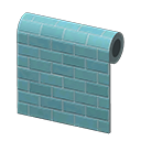 Animal Crossing New Horizons Blue Subway-tile Wall Image