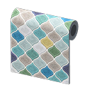Animal Crossing New Horizons Blue Desert-tile Wall Image
