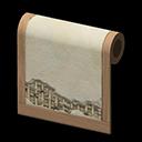 Animal Crossing New Horizons Admiral's House Dirt-clod Wall Wallpaper