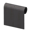 Image of Black perforated-board wall